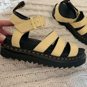 BRAND NEW Dr. Martens yellow Blaire Sandals